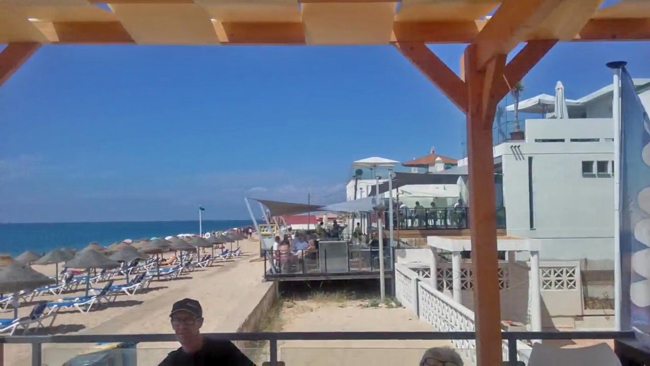 A view along Faro beach from Wax RestoBar