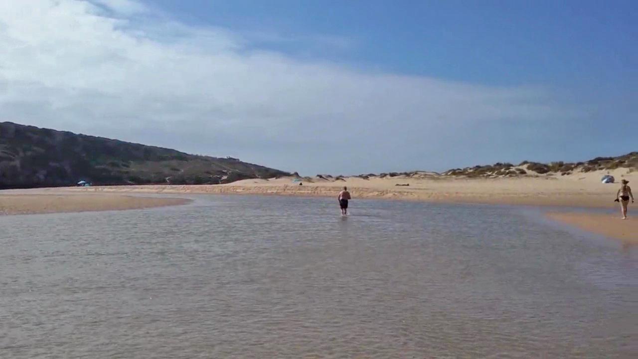 Aljezur river at Praia da Amoreira, Aljezur, Algarve, Portugal