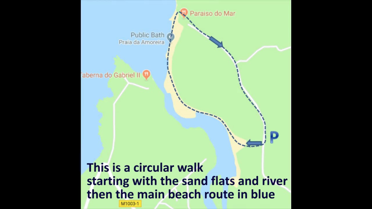 A circular walk at Praia da Amoreira, Aljezur, Algarve, Portugal