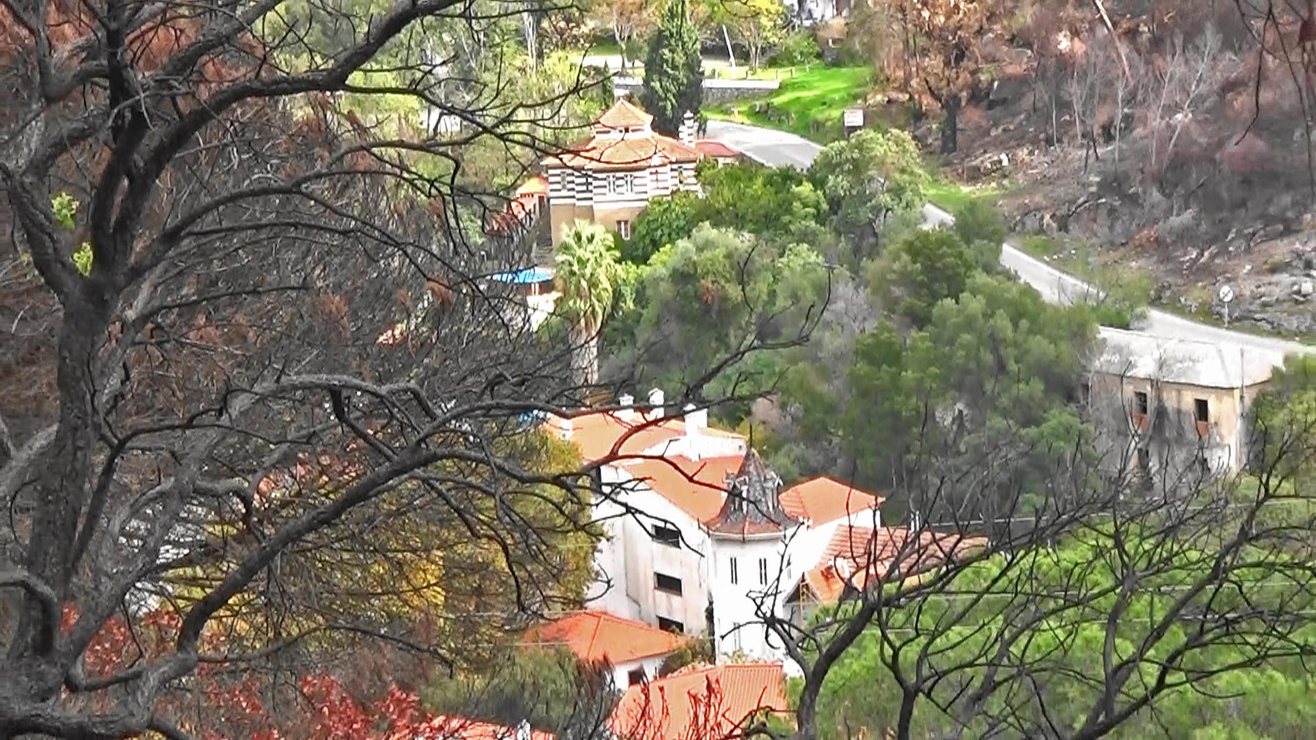 looking down at Caldas de Monchique